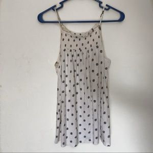 Old navy smocked patterned tank top